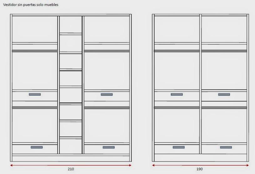 Medidas Baño En Suite:Diseño de armario vestidor y armario dormitorio (para ropa doblada)