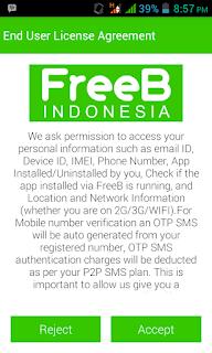 Cara Mendapatkan Pulsa Gratis dengan Aplikasi FreeB Indonesia