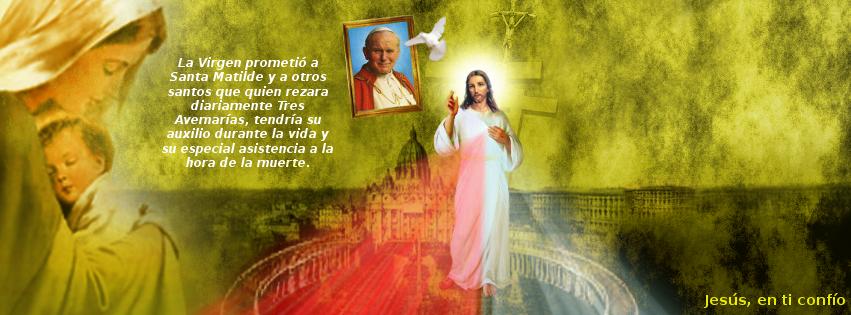 jesus con el papa y su amadisima madre