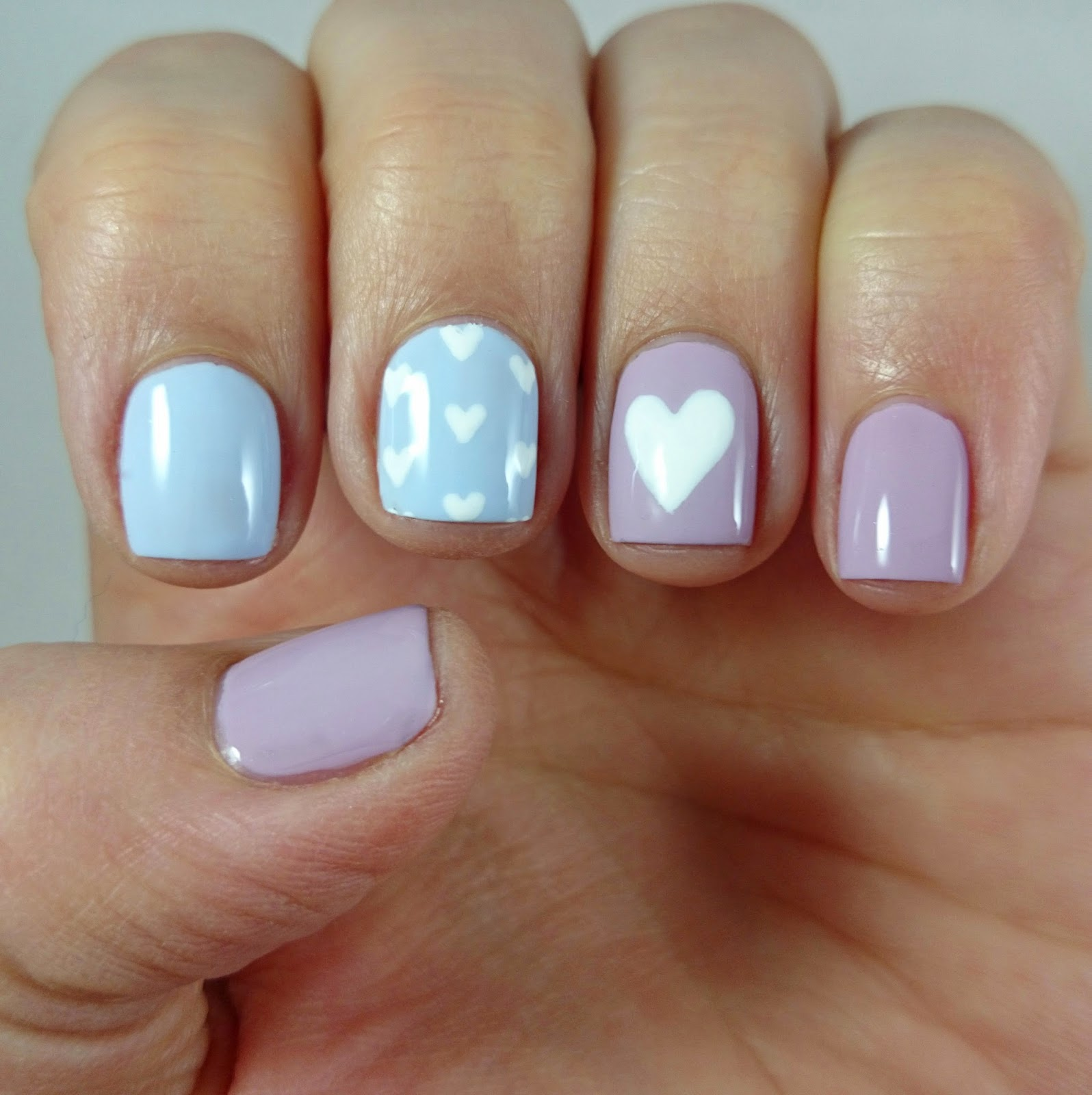 Barry M Pastel Hearts Nail Art