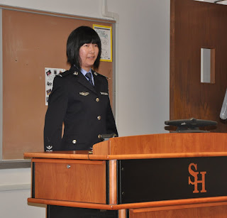 Qi Ye (Michelle) is one of 16 police cadets from Zhejiang Police College.