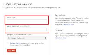 Google Plus Sayfası