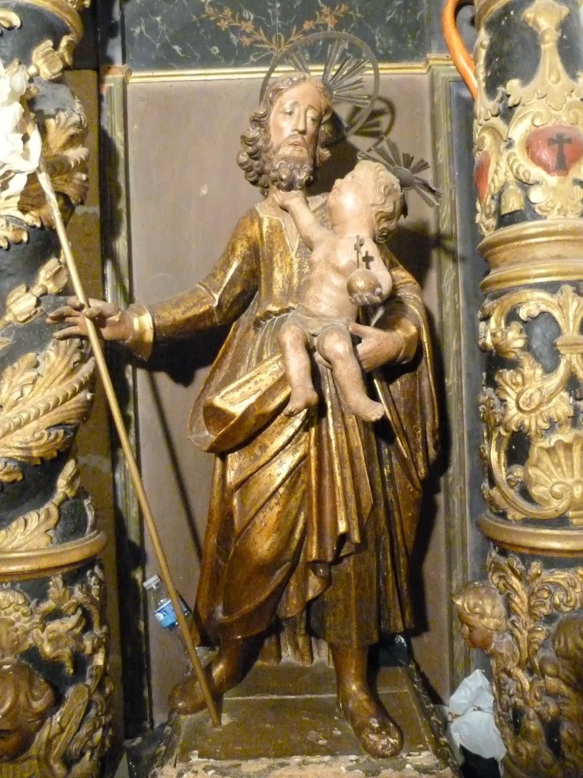Imatge de Sant Josep amb Jesús infant.