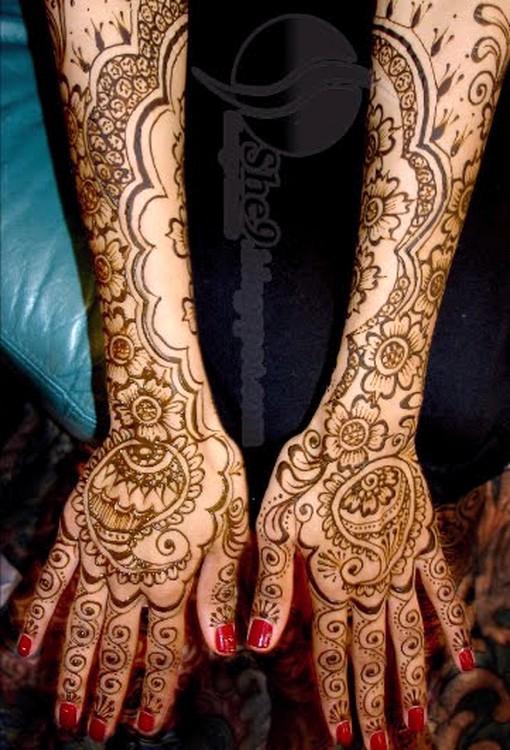 top bridal fashion full hand bridal mehndi design picture