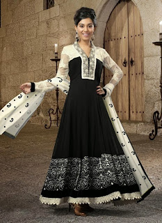 Celebrities in Indian Designers Anarkali Salwar Suits 2013