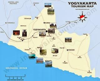 Peta Wisata dan Rute Objek Wisata Yogyakarta