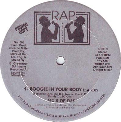 MC's Of Rap – Boogie In Your Body (VLS) (1986) (256 kbps)