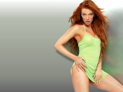Angelica Bridges Hot Green Wallpaper