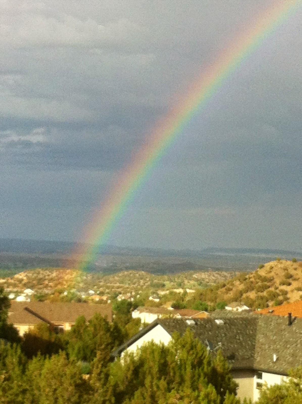 Rainbow over Canon City Colorado