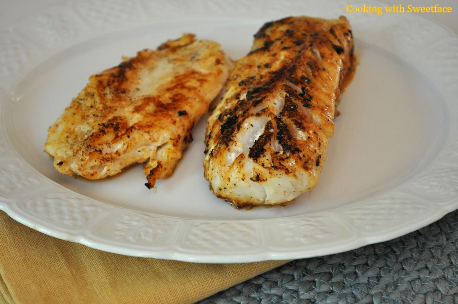 Cookingwithsweetface lemon garlic cod fillets for Cod fish fillet