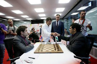 Echecs à Bilbao : Ronde 9, Levon Aronian (2807) 1-0 Viswanathan Anand (2817) © site officiel