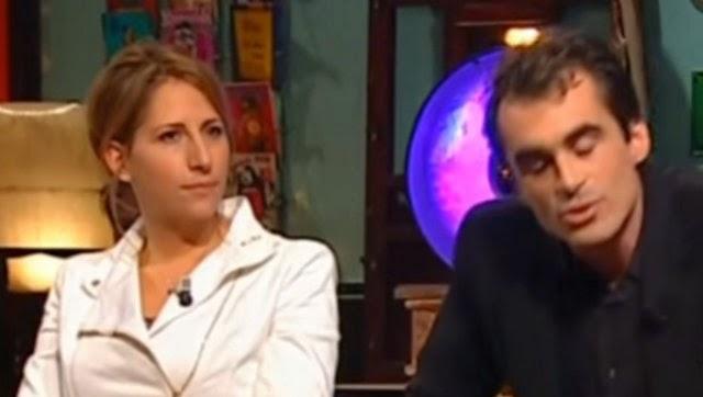 Maud Fontenoy avec Raphaël Enthoven sur le plateau des Grandes questions sur France 5