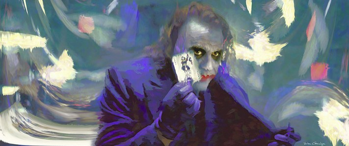 06-Joker-Heath-Ledger-Vartan-Garnikyan-Works-of-Art-Paintings-Batman-and-Joker-Themed-www-designstack-co