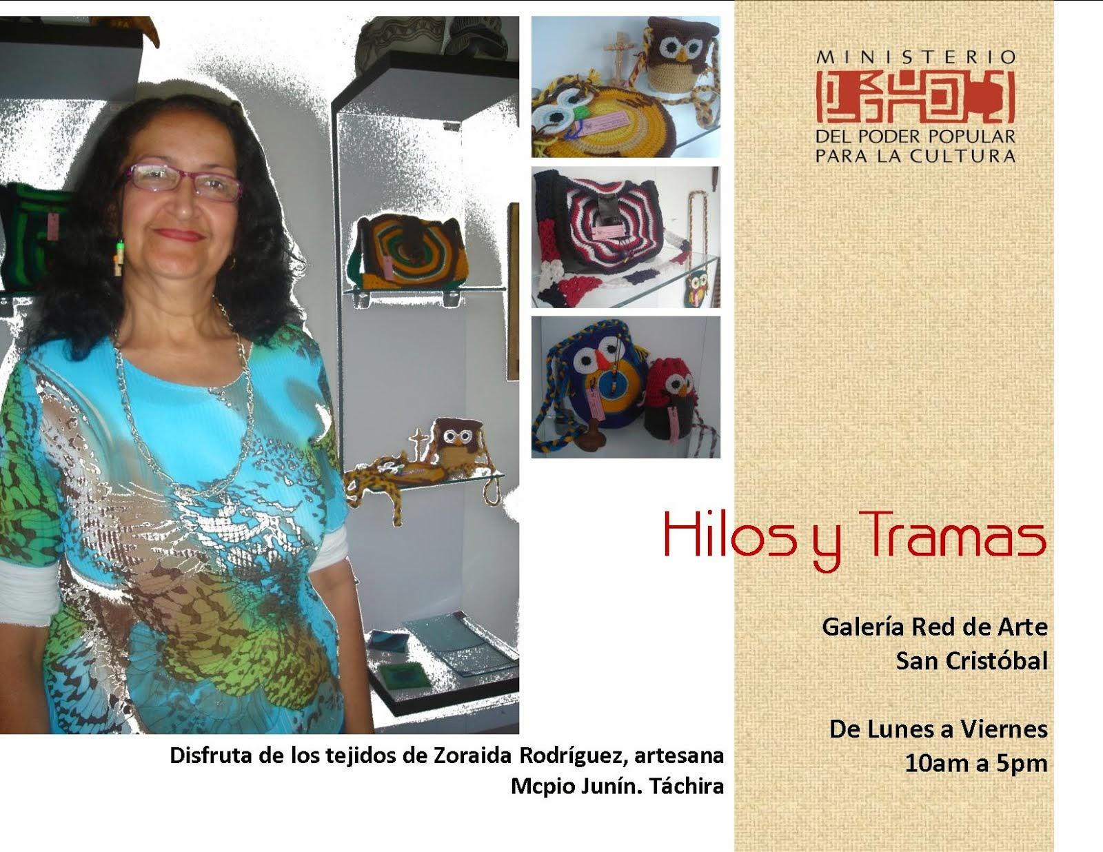 HILOS Y TRAMAS. Conoce el trabajo artesanal de Zoraida Rodríguez.