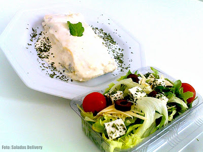 Saladas Delivery: Combo Especial - Salada Jr. e Lasanha
