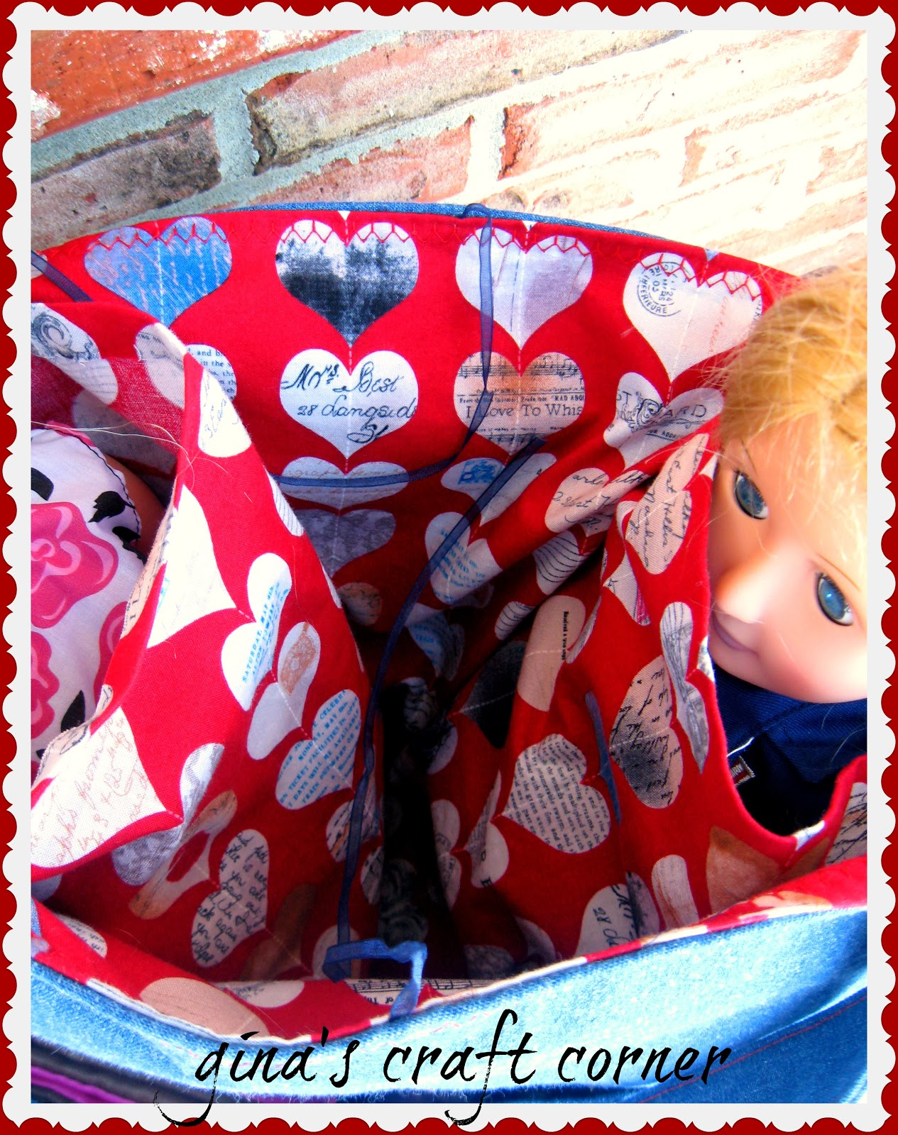 Overnight Valentine's Tote for American Girl Dolls