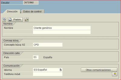 Datos generales de cliente SAP