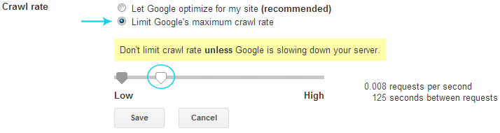 crawl rate