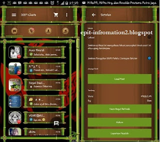 BBM Mod Beta Versi 2.90 apk Tema Bambu
