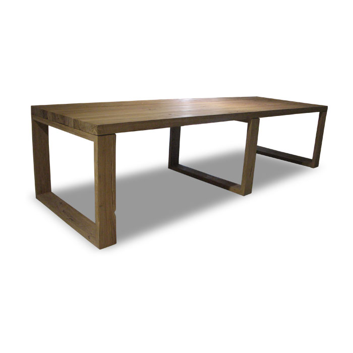 Seaseight design blog design raw wood table for Tavolo 300