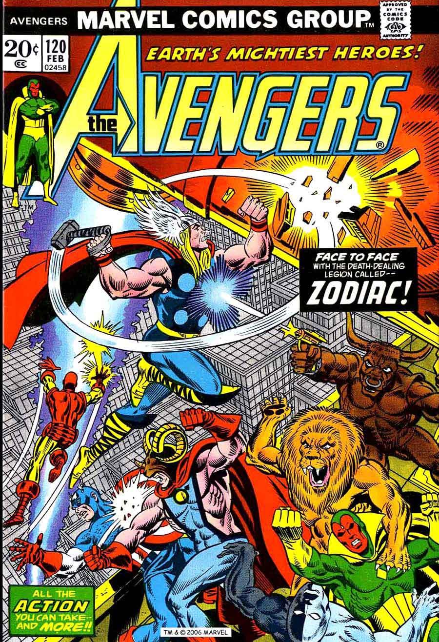 Avengers V1 120 Marvel Comic Book Cover Art By Jim Starlin