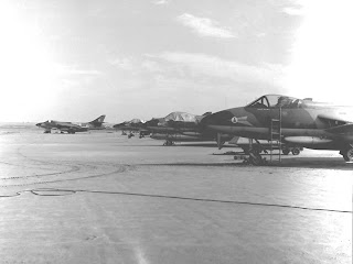 8 Sqn Hunters was taken during the great Sharjah flood in February 1961 old and rare photo