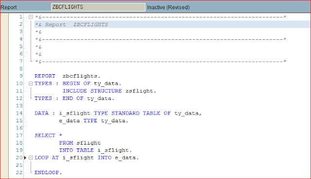 Editor ABAP nuevo después de hacer Pretty Printer