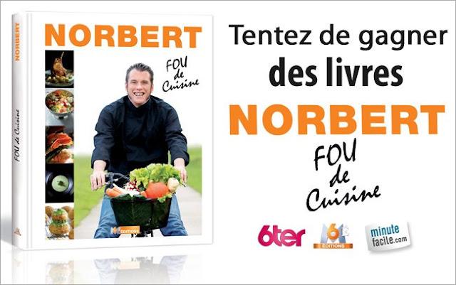 5 livres de recettes Norbert Fou de cuisine