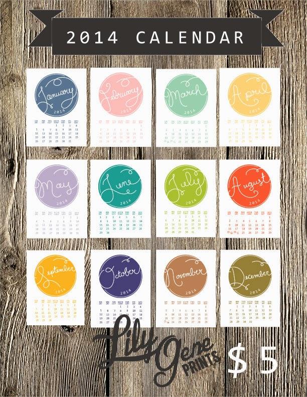 2014 Printable Calendar