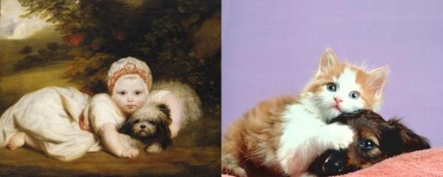 kucing peniru lukisan
