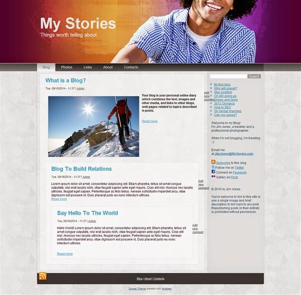 My Stories Blog - Free Drupal Theme