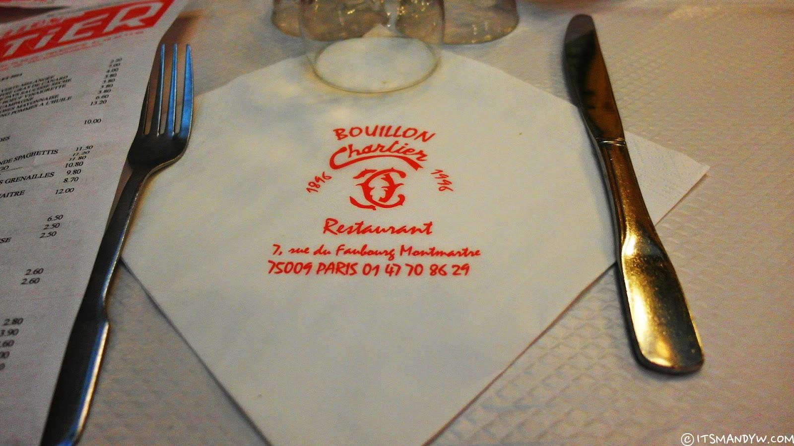 【法國】 巴黎百年大食堂 - Le Bouillon Chartier