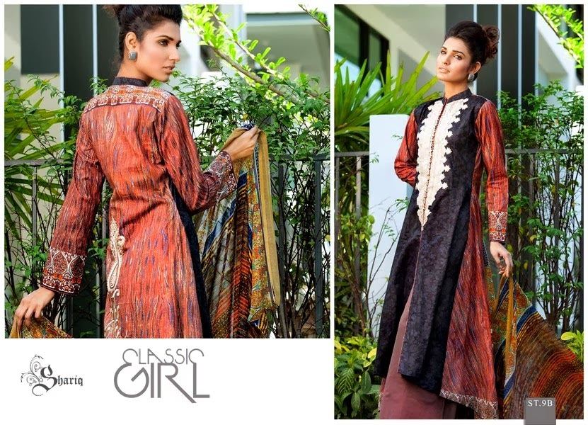 `Open Long Shirt Lawn Designs 2014