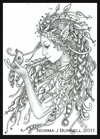 Fairy Tangles RHIANNON