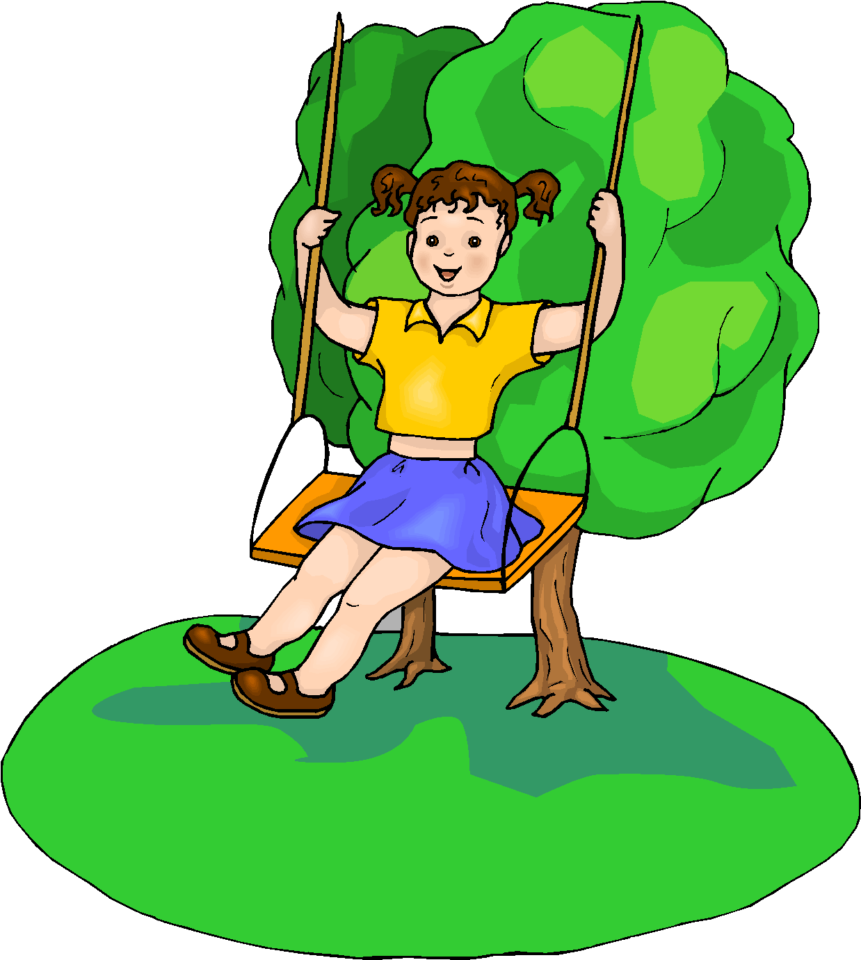 Girl Playing Clipart Girl Play Swings Free Clipart