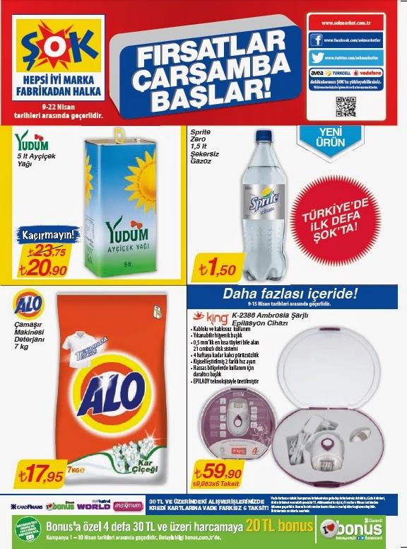 ŞOK Market 9-22 Nisan 2014 Tarihleri Arasında Gecerli Olan Aktüel Ürünler, Yeni broşür ,Kataloğu İndirimler