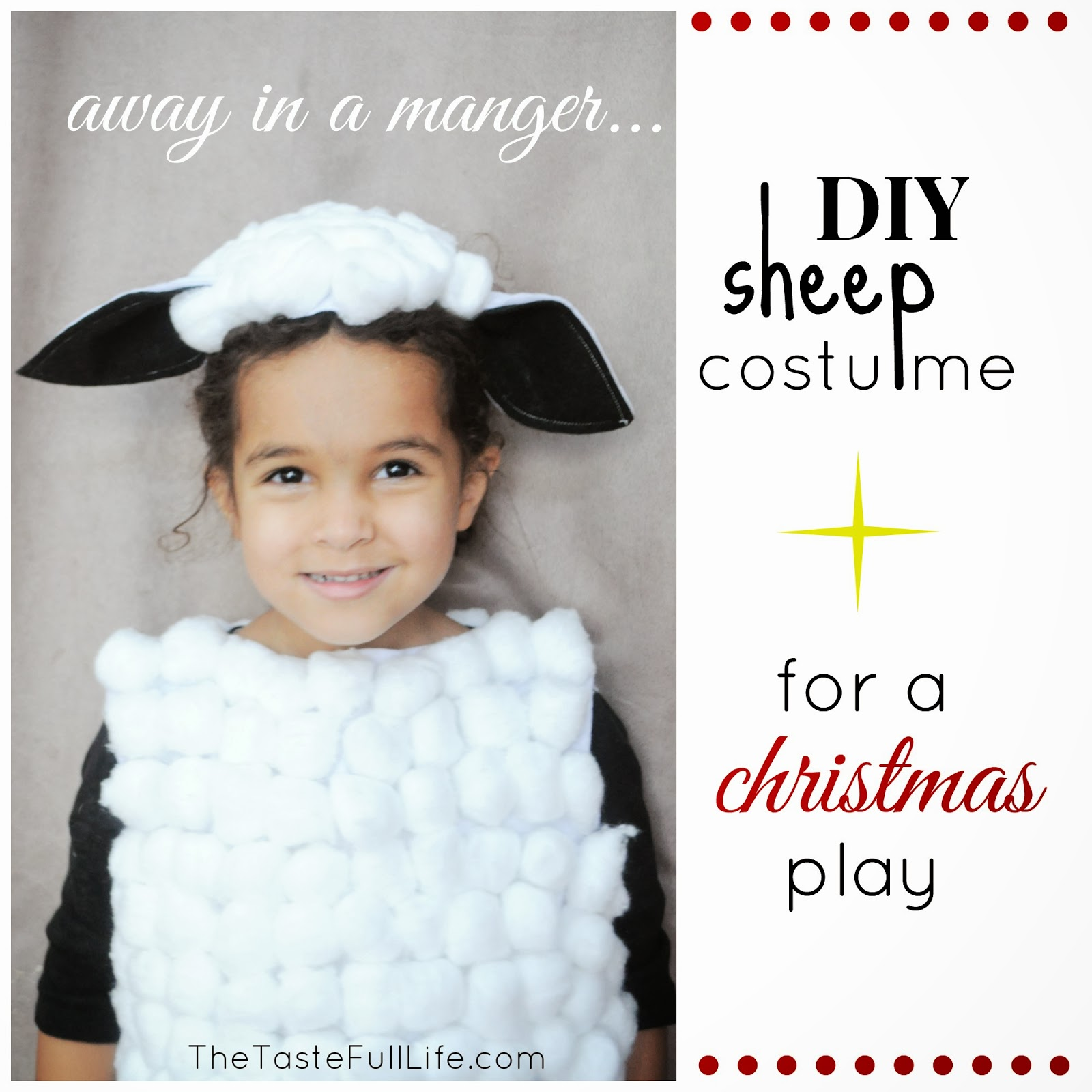 **see 1b.  sc 1 st  Pretty Real & DIY Sheep and Cow Costumes for My Churchu0027s Christmas Recital ...