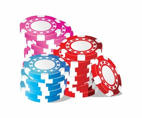 Stack of Vector Poker Chips
