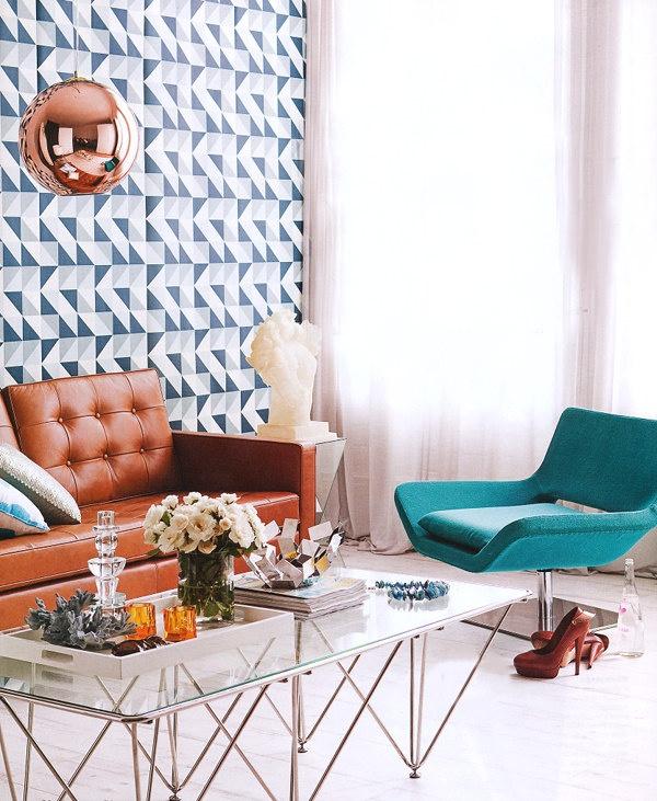 Aqua velvet chair
