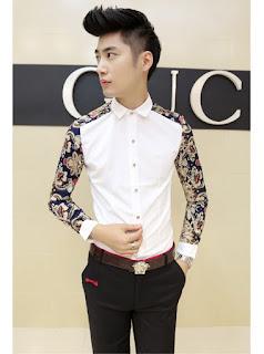 Model Kemeja Korea Pria Terbaru Februari 2016 Tangan Panjang