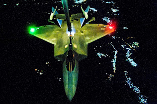 F-22 RAPTOR REFUELS BEFORE STRIKE OPERATIONS IN SYRIA