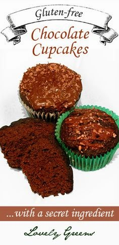 Delicious and moist gluten-free Chocolate Cupcakes...with a secret ingredient! #glutenfree