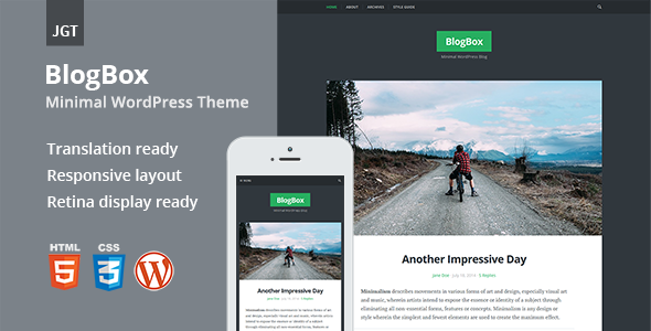 BlogBox wordpress template