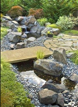 Il giardino delle naiadi ponti e passerelle - Camminamento pietra giardino ...
