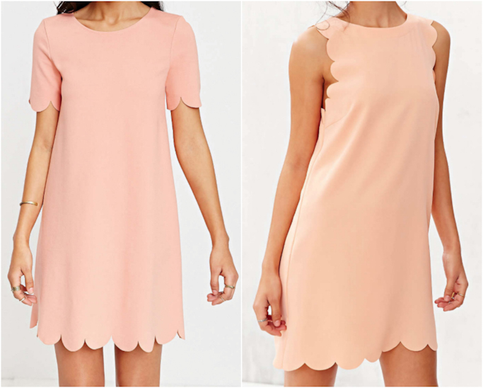 Urban Outfitters scallop tee dress scallop shift dress peach