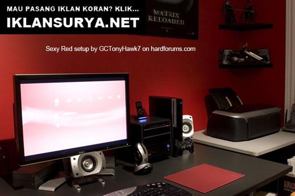 Ruang Kerja IT Tema Merah