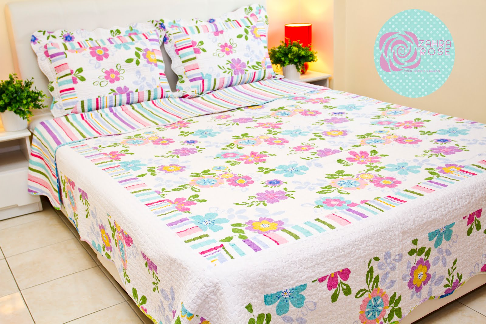 Bed sheets designs patchwork - Zr 004