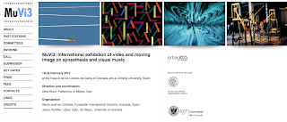Call for Works - MuVi3. International exhibition of video and moving image on synesthesia and visual music
