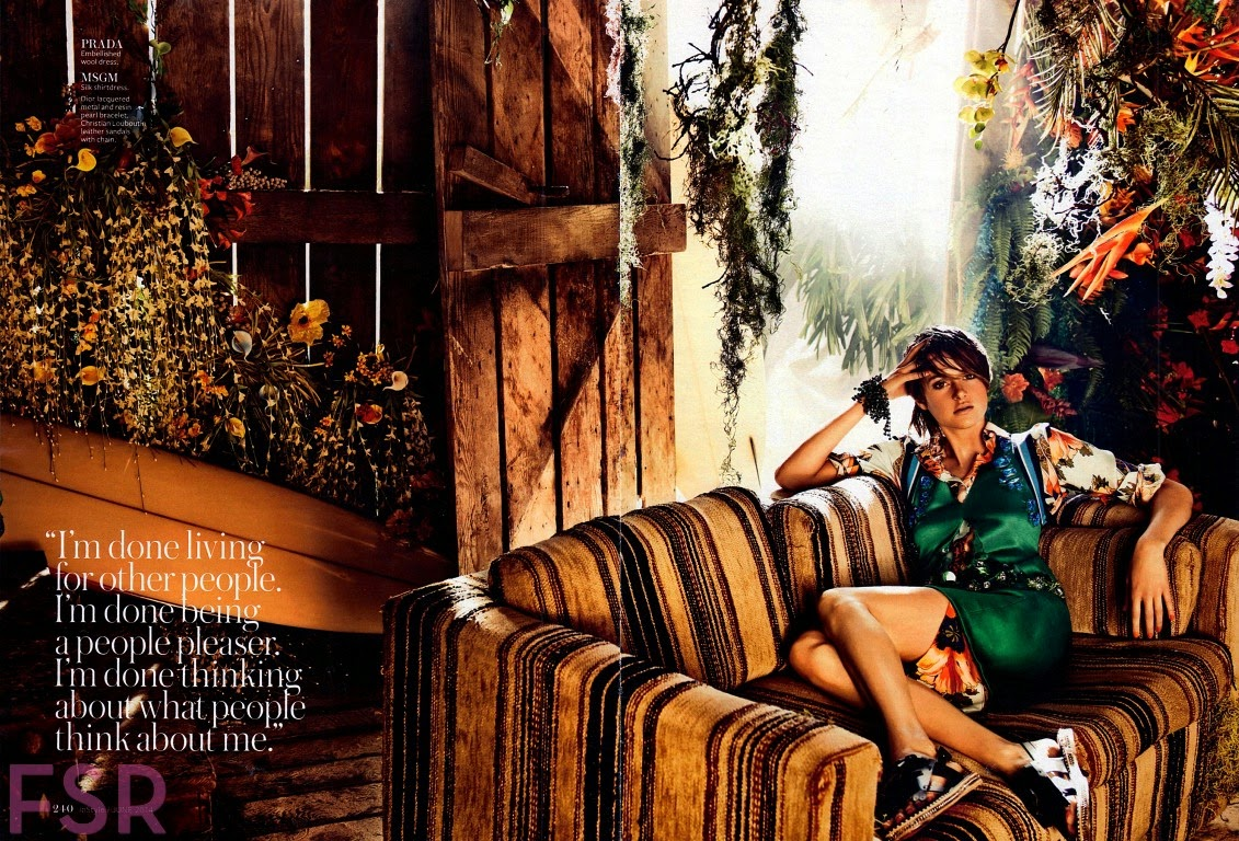 Shailene Woodley for InStyle Magazine, US, June 2014