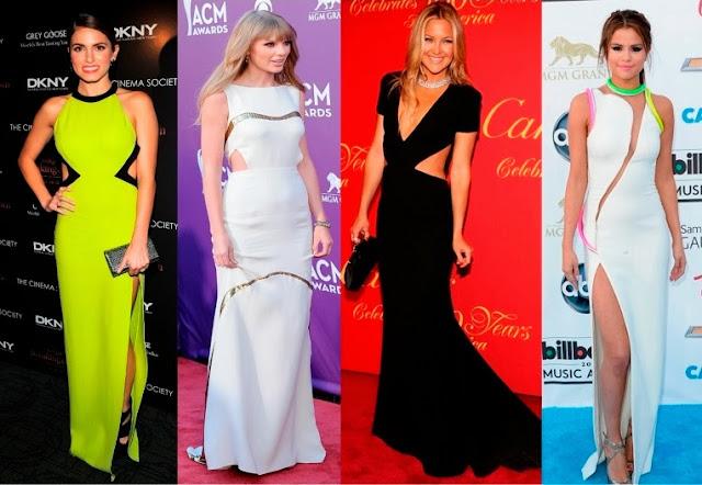 tendências vestidos festas noite recortes